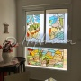 Stained glass for the flat window, Israel