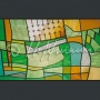 Wall panels in cafeteria