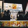 "Series of mini stained glass in cafeteria ""Kolme Kaisa Kohvik"" in Helsinki"