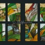 Series of mini stained glass for restaurant in Bayern, 2010