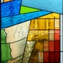 Staircase windows of municipal house in Batumi, 2010